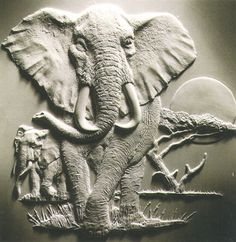STL models for CNC router or printer elephant Art Sculpture En Bois, Elephant Sculpture, Sculpture Painting, Elephant Art, Sculpture Clay, Wall Sculptures, Sculpture Ideas, Clay Wall Art, Mural Wall Art