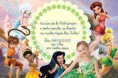 Convite digital personalizado Fadas Disney com foto 017