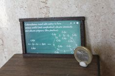 Dollhouse Miniature Chemistry blackboard
