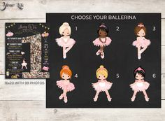 Tutus Tiaras Teacups Ballerina Birthday Pink by YourLifeMyDesign