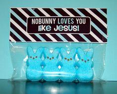 Detail-Oriented Diva!: Easter Basket Re-Label: No Bunny Loves You Like Jesus