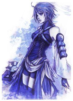 Aqua (Kingdom Hearts) - Kingdom Hearts: Birth by Sleep - Mobile Wallpaper - Zerochan Anime Image Board Vanitas Kingdom Hearts, Kingdom Hearts Fanart, Kindom Hearts, Tokyo Otaku Mode, Female Characters, Final Fantasy, Kaito, Vocaloid, Game Art