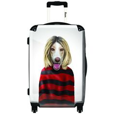 iKase Grunge Artwork Hardside Spinner Upright Suitcase
