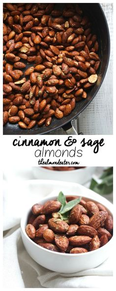 Cinnamon and Sage Almonds | SOOO delicious and only take 5 minutes to make!!