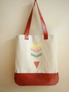 Geometric Tote Bag Canvas