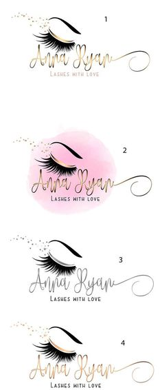 DIGITAL Custom logo design lashes logo lashes beauty logo