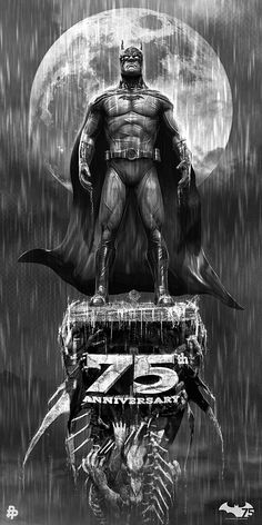 Batman 75th Anniversary Illustration. by Chris Skinner, via Behance