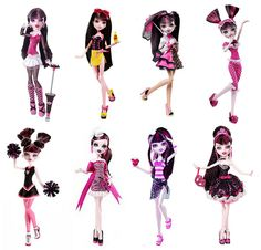 Draculaura is my favorite girl All Monster High Dolls, Love Monster, Monster High Custom, Bratz Doll Halloween Costume, Draculaura, Disney Decendants, Turtle Birthday, Turtle Party, Slumber Party Games