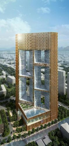 Crowne Plaza Hotel, Cixi, Ningbo, Cahina by Skidmore Owings & Merrill :: 53 floors, height 208m, proposal