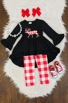 Kids Outfits Girls, Little Girl Outfits, Cute Outfits For Kids, Little Girl Fashion, Toddler Girl Outfits, Kids Fashion, Girls Christmas Outfits, Baby Outfits, Organic Baby Clothes