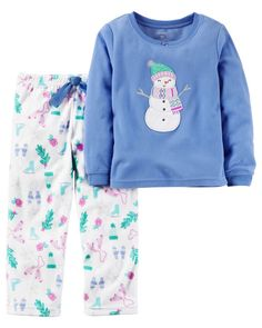 2-Piece Fleece PJs from Carters.com. Shop clothing & accessories from a trusted name in kids, toddlers, and baby clothes.