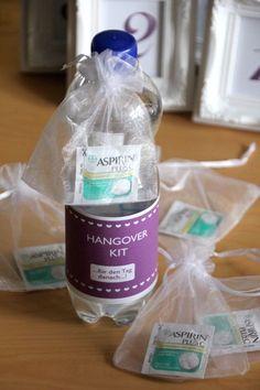 DIY Hochzeitsideen: hangover kit für die Hochzeitsgäste