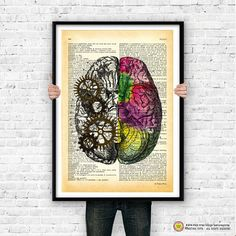 Left right brain dictionary wall art by naturapicta on Etsy