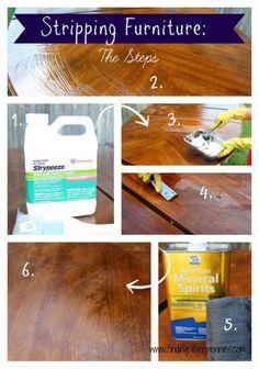 Hometalk :: Ways to Repair Restore Wood :: Debbie's clipboard on Hometalk Stripping Furniture, Stripping Paint, Furniture Repair, Paint Furniture, Furniture Projects, Furniture Makeover, Diy Projects, French Furniture, Removing Paint From Wood
