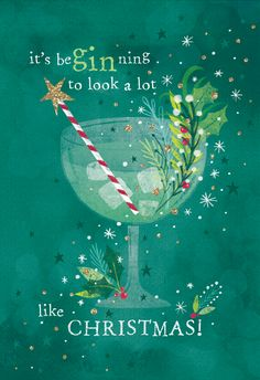 'Gin glass' - Christmas card template you can print or send online as eCard for free. Personalize with your own message, photos and stickers. Christmas Card Messages, Merry Christmas Wishes, Christmas Card Template, Funny Christmas Cards, Christmas Quotes, Vintage Christmas Cards, Christmas Greetings, Christmas Humor, Christmas Shopping Quotes