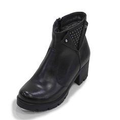 T6002-Siyah Büyük Numara Kadın Çizme Bot(T6002-siyah-41)