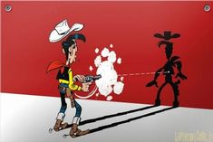"""#French expression """"tirer plus vite que son ombre"""" has comic book origins. Can you guess its idiomatic meaning? #learnfrench #lawlessfrench French Expressions, French Teacher, Teaching French, Idiomatic Expressions, French People, Lucky Luke, French Language, Second Language, Normal Person"""