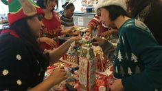 Students from Moore College of Art & Design in Philadelphia took part in a gingerbread house competition on Wednesday. Some interior design students broke up into three groups in the gingerbread-style competition.