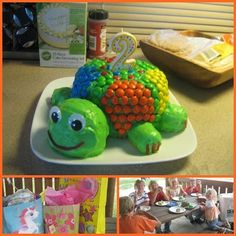 Here, There and Everywhere turtle cake