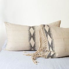 Indian Fig Pillow Cover | African Pillow, Lumbar Pillow, Fringe Pillow, Boho Pillow, Embroider Pillow, Throw Pillow, Tribal Decor,Boho Decor