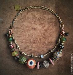 Купить Бусы ВОЛШЕБНЫЙ ГЛАЗ КАЛЬКУТТЫ - образ, стиль, дизайнерские украшения, светлана каменева
