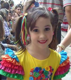 chapeu festa junina - Pesquisa Google Zen, Country Dresses, Pretty Hairstyles, Hair Bows, Headbands, Carnival, Girls Dresses, Hair Styles, Party
