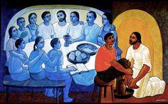 The washing of the feet (Cerezo Barredo)