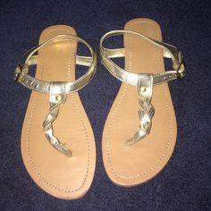 Sandals Gold Merona sandal - worn once! Merona Shoes