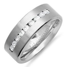 Titanium Men's Ring Wedding Band 8MM Polished- Comfort Fit