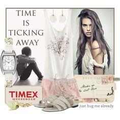 Time is ticking away, created by sephia on Polyvore