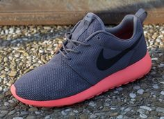 Nike Roshe Run - April 2013 Collection - Grey and Total Crimson