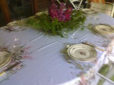 So tender my floral table!