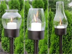 15 Awesome DIY Backyard Projects...these would look good grouped together w/ all different layers to light for a get together by the fire pit