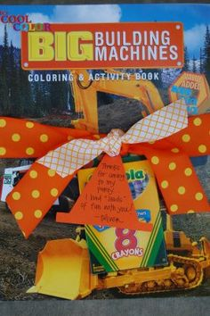 great party ideas and cute favor for construction birthday party-very budget friendly ideas