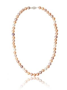 Radiance Pearl 7-8mm Multicolor Freshwater Pearl Necklace at MYHABIT
