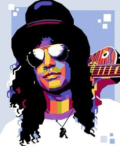 Guns n' Roses Guns N Roses, The Godfather Wallpaper, Classic Rock And Roll, Rock Queen, Music Pictures, Guitar Art, Ozzy Osbourne, Pop Art Portraits, Heavy Metal Bands