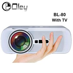 [Visit to Buy] BL-80 Android Wifi HD Multimedia LED Projector AV/HDMI/ATV/USB 1800lumens Video Games TV Home Theater Projector proyector beamer #Advertisement