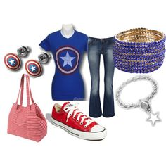 Steve Rogers, created by amettes on Polyvore
