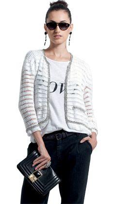 Veja como fazer e usar um lindo casaqueto - Moda, Beleza, Estilo, Customizaçao e Receitas - Manequim - Editora Abril