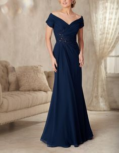 Cheap dress samples, Buy Quality dress up ball gowns directly from China gown dress Suppliers: elegant v-neck cap sleeve navy mother of the bride chiffon dresses groom mother formal long evening gowns plus size dinner dress
