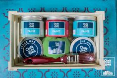 Chalk Of The Town® - Premium Kit   Χρώματα Κιμωλίας Annie Sloan, Coffee Cans, Wax, Colors, Colour, Color, Laundry, Paint Colors, Hue