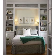 Bookcases Around Bed Design Ideas, Pictures, Remodel, and Decor