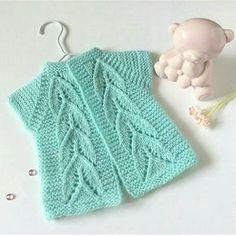Baby Cardigan Knitting Pattern, Baby Knitting Patterns, Knitting Stitches, Pullover Design, Sweater Design, Baby Girl Dresses, Baby Dress, Crochet Baby, Knit Crochet