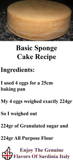 Simple cake recipes for beginners for Chocolate sponge ingredients