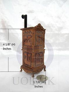 Miniatura 1:12 escala victoriano tallado por UOLHKscalefurniture