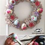 Beautiful Easter wreath – www.dadu.bg