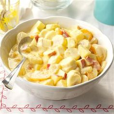 Aunt Marion's Fruit Salad Dessert Recipe -Aunt Marion, my namesake, is like a grandma to me. She gave me this luscious salad recipe, which goes to all our family reunions, hunt club suppers and snowmobile club picnics...and I go home with no leftovers!