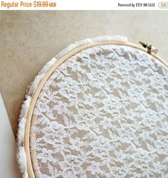 Christmas In July Sale Earring Hanger White Lace by CallunaMuse