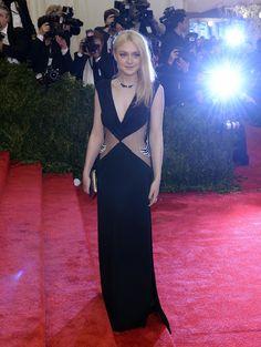 Met Gala 2013: Dakota Fanning. Dress by Rodarte.