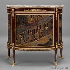 A Fine Louis XVI Style Coromandel Lacquer, Demi-Lune Commode